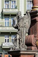 Pestsäule am Marktplatz  in Swidnica, Woiwodschaft Niederschlesien (Województwo dolnośląskie), Polen, Europa