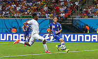 Daniel Sturridge of England scores a goal to make the score 1-1