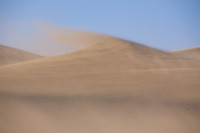 Windblown dune at the Great Sand Dunes National Park.<br /> <br /> Canon EOS 5D, 70-200 f/2.8L lens
