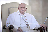 Pope Francis during of a weekly general audience at St Peter's square in Vatican, Wednesday.September 18, 2019