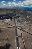 aerial photograph of the Santa Fe Regional Airport (SAF), Santa Fe, New Mexico