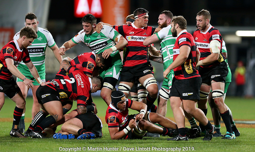 Action from the Mitre 10 Cup rugby match between Canterbury and Manawatu Turbos at Orangetheory Stadium in Christchurch, New Zealand on Thursday, 19 September 2019. Photo: Martin Hunter/ lintottphoto.co.nz