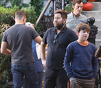September 24, 2021. Scoot McNairy, Will Speck, Josh Gordon, Winslow Fegley, filming on location for  Sony pictures Lyle Lyle Crocodile<br />   in New York September 24, 2021 Credit:RW/MediaPunch