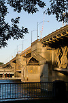 The Burnside Bridge over the Willamette River, Portland, Oregon