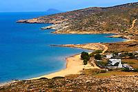 Plakes Beach on Ios, Cyclades Island Greece