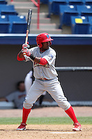 Clearwater Threshers second baseman Albert Cartwright #8 during a game against the Brevard County Manatees at Space Coast Stadium on April 30, 2012 in Viera, Florida.  Clearwater defeated Brevard County 5-1.  (Mike Janes/Four Seam Images)
