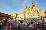 The finish of Stage 21 of La Vuelta d'Espana 2021, in front of the Cathedral, an individual time trial running 33.8km from Padron to Santiago de Compostela, Spain. 5th September 2021.    <br /> Picture: Luis Angel Gomez/Photogomezsport | Cyclefile<br /> <br /> All photos usage must carry mandatory copyright credit (© Cyclefile | Luis Angel Gomez/Photogomezsport)