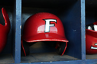 GREENSBORO, NC - FEBRUARY 22: Fairfield University batting helmet during a game between Fairfield and UNC Greensboro at UNCG Baseball Stadium on February 22, 2020 in Greensboro, North Carolina.