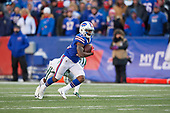 Buffalo Bills Isaiah McKenzie (19) runs up field during an NFL football game against the New York Jets, Sunday, December 9, 2018, in Orchard Park, N.Y.  (Mike Janes Photography)