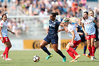 Cary, North Carolina  - Sunday May 21, 2017: Rosana and Julie Ertz during a regular season National Women's Soccer League (NWSL) match between the North Carolina Courage and the Chicago Red Stars at Sahlen's Stadium at WakeMed Soccer Park. Chicago won the game 3-1.