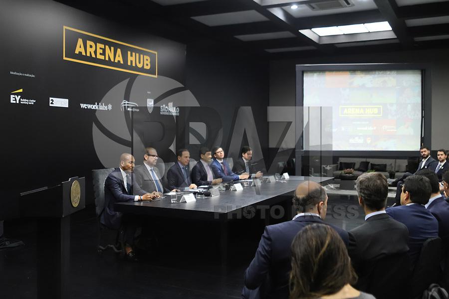 SÃO PAULO, SP, 10.09.2019 - POLITICA-SP - João Doria, Governador de São Paulo, anuncia o lançamento do projeto Arena Hub, no Palácio dos Bandeirantes, em São Paulo, nesta terça-feira, 10. (Foto Charles Sholl/Brazil Photo Press/Folhapress)