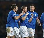 David Templerton celebrates his second and Rangers third goal