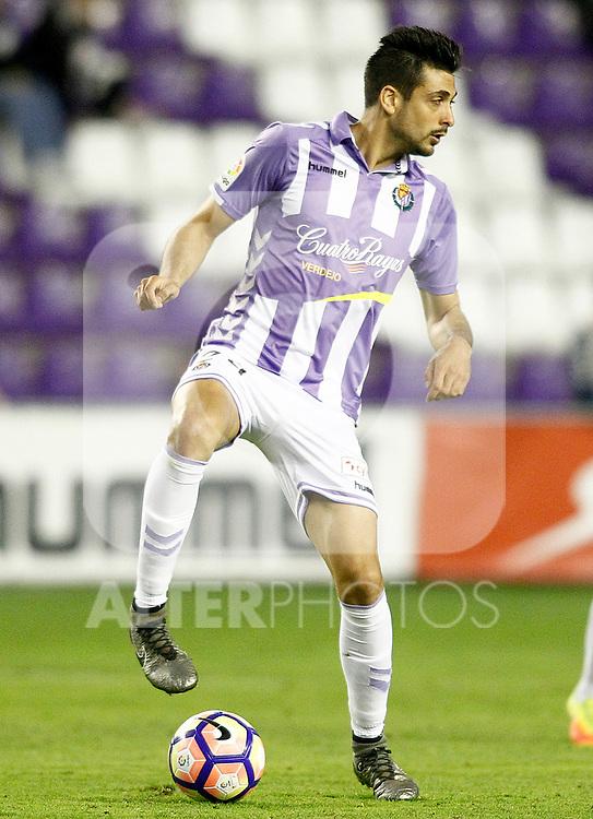 Real Valladolid's Alex Perez during La Liga Second Division match. March 11,2017. (ALTERPHOTOS/Acero)