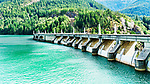Diablo Dam.  Across the Skagit River in the North Cascade mountains of Washington State.