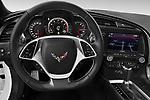 Car pictures of steering wheel view of a 2019 Chevrolet Corvette-Stingray 3LT 2 Door Coupe Steering Wheel