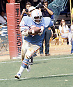 Houston Oilers Earl Campbell(34) in action during a game against the Atlanta Falcons. Earl Campbell played for 9 years with 2 teams and was inducted to the Pro Football Hall of Fame in 1991. David Durochik/SportPics