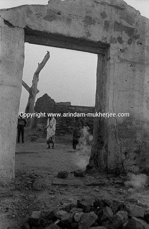 Rubbles of a house, which is destructed by mine fire in a village near Jharia,. Mine fire is the biggest crisis in the coal belt area of Jharkhand. Arindam Mukherjee