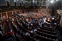 The House Chamber is seen during a joint session of Congress to count the Electoral College votes from the 2020 presidential election on Wednesday, January 6, 2021.<br /> CAP/MPI/RS<br /> ©RS/MPI/Capital Pictures