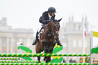 NZL-Tim Rusbridge (ONEFORTHENOTEBOOK) FINAL-38TH: CCI3* SHOWJUMPING: 2015 GBR-Blenheim Palace International Horse Trial (Sunday 20 September) CREDIT: Libby Law COPYRIGHT: LIBBY LAW PHOTOGRAPHY