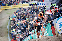 A very dominant Wout Van Aert (BEL/Vastgoedservice-Golden Palace) leading the race once again this season<br /> <br /> Men Elite Race<br /> Superprestige Zonhoven 2015