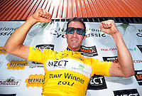 NZ Cycle Classic UCI Oceania Tour champion Joe Cooper after winning the tour on the final day in Masterton, New Zealand on Tuesday, 26 January 2017. Photo: Dave Lintott / lintottphoto.co.nz