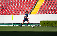 GUADALAJARA, MEXICO - MARCH 28: Henry Kessler #3 of the United States looks for an open man downfield during a game between Honduras and USMNT U-23 at Estadio Jalisco on March 28, 2021 in Guadalajara, Mexico.