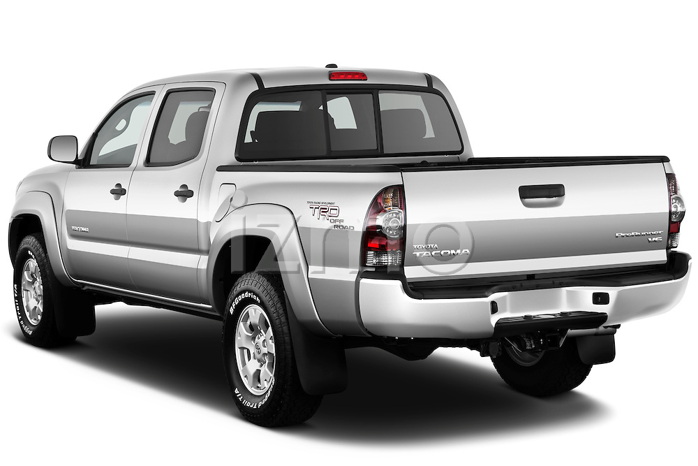 Rear three quarter view of a 2011 Toyota Tacoma PreRunner Off Road Double Cab