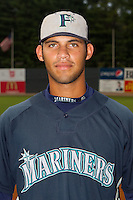 Jorge Agudelo #7 of the Pulaski Mariners at Boyce Cox Field August 28, 2010, in Bristol, Tennessee.  Photo by Brian Westerholt / Four Seam Images