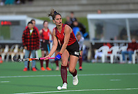 Ani Roberts shoots early in the final play of the shootout during the women's premier one Wellington Hockey final between Hutt United and Dalefield at National Hockey Stadium in Wellington, New Zealand on Saturday, 26 September 2020. Photo: Dave Lintott / lintottphoto.co.nz