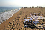 Drying Laundry On Beach