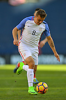 San Diego, CA - Sunday January 29, 2017: Jordan Morris during an international friendly between the men's national teams of the United States (USA) and Serbia (SRB) at Qualcomm Stadium.