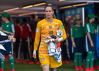 PARIS,  - JUNE 28: Ashlyn Harris #18 enters the field during a game between France and USWNT at Parc des Princes on June 28, 2019 in Paris, France.