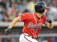 12 April 2008: Outfielder Carl Loadenthal (4) of the Mississippi Braves, Class AA affiliate of the Atlanta Braves, in a game against the Mobile BayBears at Trustmark Park in Pearl, Miss. Photo by:  Tom Priddy/Four Seam Images