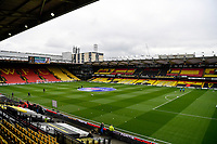 20th March 2021; Vicarage Road, Watford, Hertfordshire, England; English Football League Championship Football, Watford versus Birmingham City; Vicarage Road stadium with an hour to go until Kick Off.