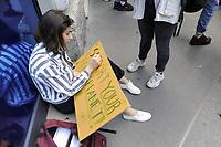 """- Milano, 24 Maggio 2019, manifestazione di giovani e studenti """"Global Strike for Future"""", in protesta contro i cambiamenti climatici ed il riscaldamento globale<br /> <br /> - Milan, 24 May 2019, """"Global Strike for Future"""" youth and student demonstration, in protest against climate change and global warming"""