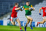 Diarmuid O'Connor, Kerry in action against Mattie Taylor, Cork, during the Munster GAA Football Senior Championship Semi-Final match between Cork and Kerry at Páirc Uí Chaoimh in Cork.