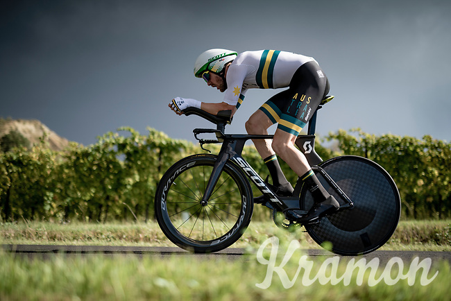 Luke Durbridge (AUS/Mitchelton-Scott)<br /> <br /> Men's Elite Time trial from Imola to Imola (31.7km)<br /> <br /> 87th UCI Road World Championships 2020 - ITT (WC)<br /> <br /> ©kramon