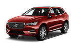 2020 Volvo XC60 Inscription-T8-eAWD-Plug-in-Hybrid 5 Door SUV Angular Front automotive stock photos of front three quarter view