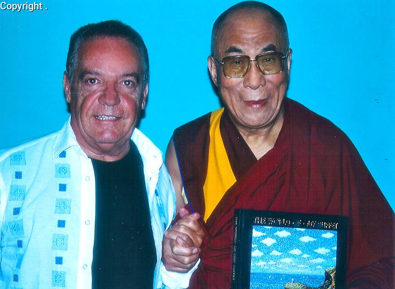Guy Buffet and His Holiness, The Dalai Lama<br /> Dharamsala, India, May 2005
