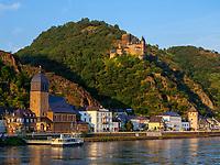 Burg Katz, St. Goarshausen, Rheinland-Pfalz, Deutschland, Europa<br /> Castle Katz, St. Goarshausen, Rhineland-Palatinate, Germany, Europe