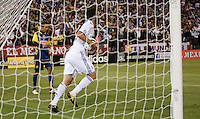 Gonzalo Higuain retrieves his ball from the net. Real Madrid defeated Club America 3-2 at Candlestick Park in San Francisco, California on August 4th, 2010.
