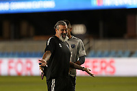 SAN JOSE, CA - OCTOBER 18: San Jose Earthquakes goalkeeper coach Carlos Roa before a game between Seattle Sounders FC and San Jose Earthquakes at Earthquakes Stadium on October 18, 2020 in San Jose, California.