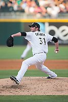 Charlotte Knights starting pitcher Kyle Drabek (31) in action against the Indianapolis Indians at BB&T BallPark on June 20, 2015 in Charlotte, North Carolina.  The Knights defeated the Indians 6-5 in 12 innings.  (Brian Westerholt/Four Seam Images)