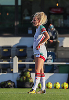 OHL's Tine Schrijvers (23) pictured during a female soccer game between Oud Heverlee Leuven and Eendracht Aalst Ladies  on the third matchday of the 2020 - 2021 season of Belgian Womens Super League , Sunday 4 th of October 2020  in Heverlee , Belgium . PHOTO SPORTPIX.BE | SPP | SEVIL OKTEM