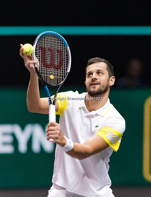 Rotterdam, The Netherlands, 2 march  2021, ABNAMRO World Tennis Tournament, Ahoy, First round doubles: Nikola Mektic (CRO) / Mate Pavic (CRO).<br /> Photo: www.tennisimages.com/henkkoster