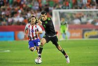 Kansas City, Missouri - March 31, 2015: Mexico defeated Paraguay 1-0 in an international friendly at Arrowhead Stadium.
