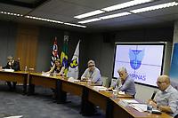 Campinas (SP), 22/02/2021 - Dario Saadi - O prefeito de Campinas (SP), Dário Saadi (Republicanos), realizou nesta segunda-feira (22), um anúncio com ações que serão tomadas para o combate à covid-19 na cidade. A medida vai ocorrer, segundo Dário, devido a um aumento significativo de casos da doença em Campinas.<br /> Ontem, a cidade atingiu lotação máxima de leitos de UTI-Covid no sistema público de saúde. A taxa inclui leitos da rede pública municipal e estadual.