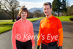 June and Mark Sexton ready for a run around the Killarney National Park on Saturday.