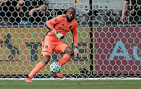 LOS ANGELES, CA - MARCH 01: GK Kenneth Vermeer #1 of LAFC moves to the ball in the box during a game between Inter Miami CF and Los Angeles FC at Banc of California Stadium on March 01, 2020 in Los Angeles, California.