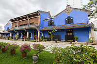 George Town, Penang, Malaysia.  Blue Mansion of Cheong Fatt Tze.